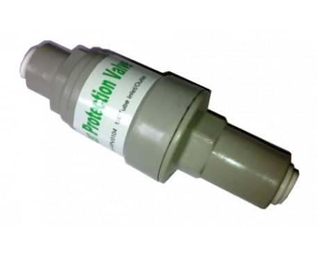 Filter protection valve