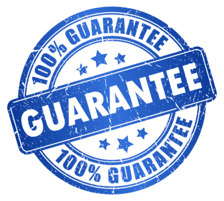 NO QUIBBLE, 100% SERVICE GUARANTEE