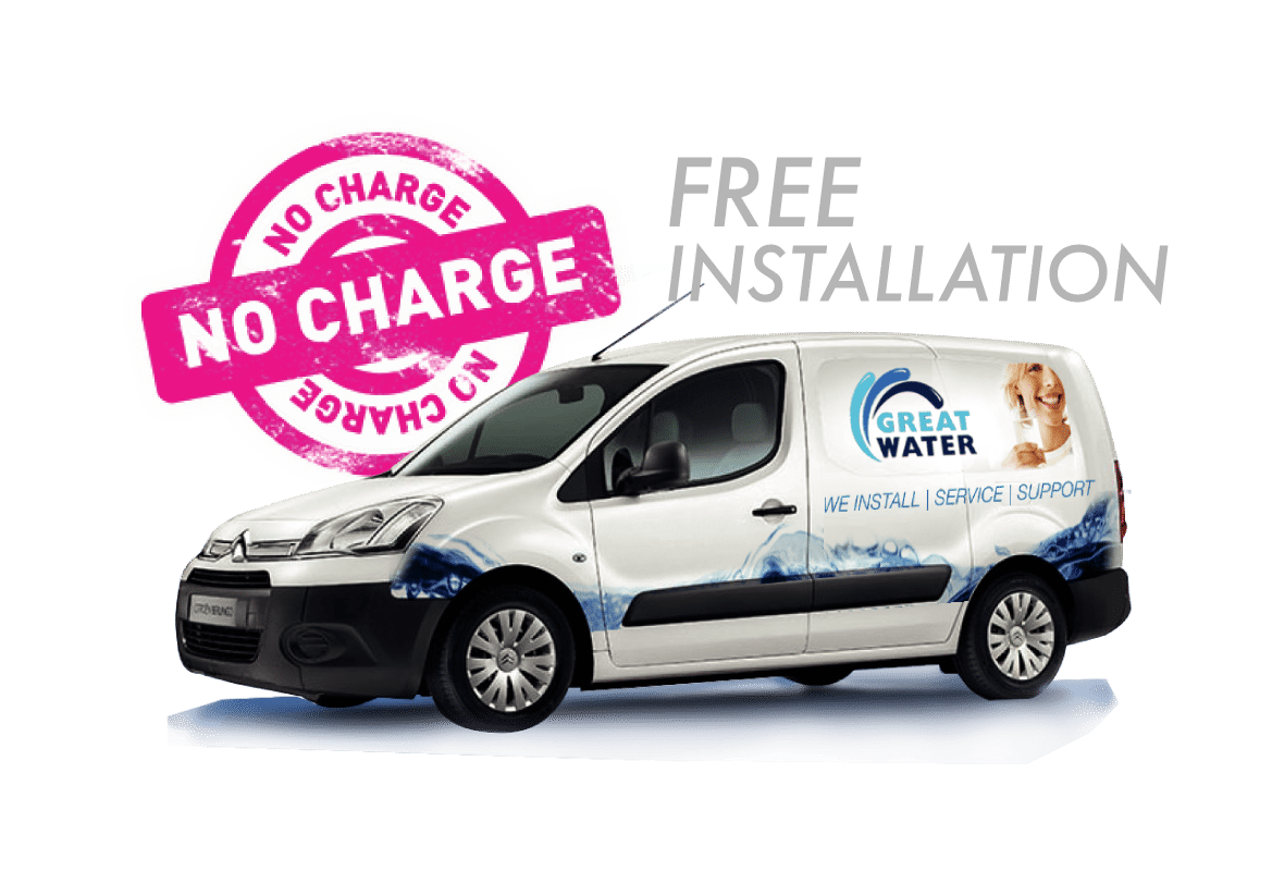 Great Water Free Installation Van